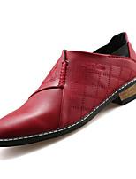 Недорогие -Муж. Комфортная обувь Полиуретан Осень На каждый день Мокасины и Свитер Водостойкий Черный / Коричневый / Красный