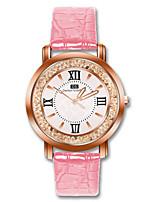 Недорогие -Жен. Наручные часы Кварцевый Повседневные часы PU Группа Аналоговый Мода Черный / Белый / Красный - Коричневый Красный Розовый