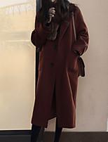 Недорогие -Жен. Пальто Классический - Однотонный Пэчворк
