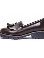 abordables -Femme Chaussures de confort Microfibre Automne Chaussures à Talons Talon Bas Noir / Vin / Brun claire