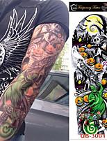 preiswerte -3 pcs Temporary Tattoos Totem Serie / Blumen Serie Glatte Aufkleber / Umweltfreundlich / Wegwerfbar Körperkunst Korpus / Arm / Bein / Decal-Stil temporäre Tattoos