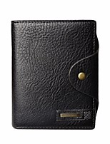 cheap -Men's Bags PU(Polyurethane) Wallet Buttons Solid Color Black / Coffee