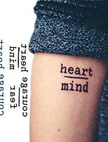 abordables -10 pcs Tatouages temporaires Série de messages Design nouveau / Nouveautés Arts du Corps Visage / bras / poignet / Autocollant de tatouage