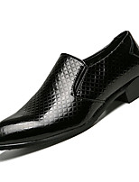cheap -Men's Comfort Shoes PU(Polyurethane) Fall Casual Loafers & Slip-Ons Non-slipping Gold / Black
