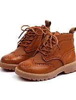Недорогие -Мальчики / Девочки Обувь Кожа Осень Армейские ботинки Ботинки для Дети / Дети (1-4 лет) Черный / Коричневый