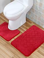 Недорогие -3 предмета Modern Коврики для ванны 100 г / м2 полиэфирный стреч-трикотаж Геометрический принт нерегулярный Новый дизайн