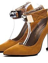 abordables -Femme Escarpins Daim Printemps & Automne Chaussures à Talons Kitten Heel Bout pointu Boucle Noir / Marron
