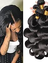 Недорогие -4 Связки Индийские волосы / Вьетнамские волосы Естественные кудри Необработанные / Натуральные волосы Подарки / Человека ткет Волосы / Сувениры для чаепития 8-28 дюймовый Ткет человеческих волос