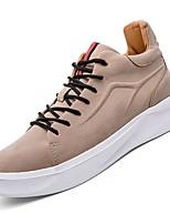 Недорогие -Муж. Комфортная обувь Полиуретан Осень Кеды Черный / Хаки