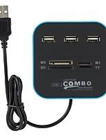 Недорогие -3 USB-концентратор USB 2.0 USB 2.0 Новый дизайн Центр данных