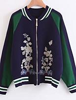 cheap -Women's Street chic Jacket - Floral / Botanical