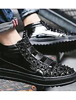 Недорогие -Муж. Комфортная обувь Синтетика Весна & осень Кеды Черный / Серебряный / Красный