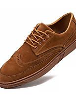 Недорогие -Муж. Комфортная обувь Свиная кожа / Полиуретан Осень На каждый день Кеды Нескользкий Черный / Серый / Коричневый