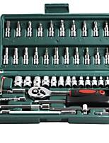 Недорогие -Углеродистая сталь для ремонта автомобилей 46 в 1 Наборы инструментов