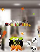 Недорогие -Оконная пленка и наклейки Украшение Хэллоуин Простой / Праздник ПВХ Cool