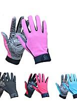 Недорогие -Спортивные перчатки Спортивные перчатки / Перчатки для велосипедистов С защитой от ветра / Дышащий / Нескользящий Полный палец Сетка