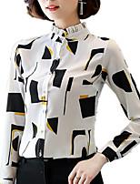 Недорогие -Жен. Рубашка Деловые / Классический Геометрический принт
