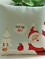 abordables -Housse de coussin Noël Tissu en Coton Carré Bande dessinée Décoration de Noël