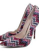 Недорогие -Жен. Комфортная обувь Сетка Весна Обувь на каблуках На шпильке Красный / Синий / Розовый