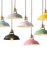 abordables -Mini Lampe suspendue Lumière d'ambiance Finitions Peintes Métal Style mini 110-120V / 220-240V Ampoule non incluse / E26 / E27