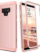 Недорогие -Кейс для Назначение SSamsung Galaxy Note 9 Защита от удара Чехол Однотонный Твердый ТПУ / ПК для Note 9