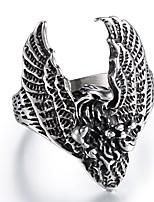 abordables -Homme Le style rétro / Sculpture Bague - Acier au titane Aigle Large, Rétro, Punk 9 / 10 / 11 Argent Pour Plein Air / Soirée