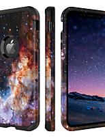 Недорогие -Кейс для Назначение Apple iPhone XR / iPhone XS Max Защита от удара / С узором Чехол Градиент цвета Твердый ТПУ / ПК для iPhone XR / iPhone XS Max