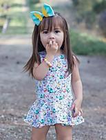 abordables -bébé Fille Imprimé Sans Manches Robe