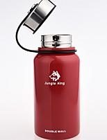 Недорогие -Jungle King Походная чашка Вакуумный Кубок сохраняющий тепло Нержавеющая сталь на открытом воздухе за Черный Красный Зеленый