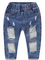 baratos -Infantil Para Meninas Sólido Jeans