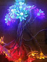 baratos -1.2m Cordões de Luzes 10 LEDs Branco Quente / Branco / Multicolorido Novo Design / Decorativa / Legal Baterias AA alimentadas