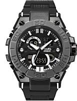 Недорогие -SMAEL Муж. Спортивные часы электронные часы Японский Японский кварц 50 m Защита от влаги Календарь Секундомер PU Группа Аналого-цифровые На каждый день Мода Черный - Черный Черный и золотой