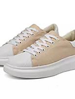 Недорогие -Муж. Комфортная обувь Полотно Лето Кеды Черный / Бежевый / Синий