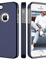 Недорогие -Кейс для Назначение Apple Кейс для iPhone 5 Защита от удара Кейс на заднюю панель Однотонный Твердый ПК для iPhone SE / 5s / iPhone 5