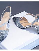 abordables -Femme Escarpins Polyuréthane Automne Chaussures à Talons Talon Bottier Argent / Rose