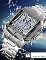 Недорогие -SKMEI Муж. Нарядные часы Наручные часы Японский Цифровой 30 m Защита от влаги Календарь Хронометр Нержавеющая сталь Группа Цифровой На каждый день Мода Серебристый металл / Золотистый / Розовое золото