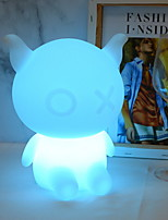 cheap -1pc LED Night Light USB Remote Controlled / New Design / Color-Changing <=36 V