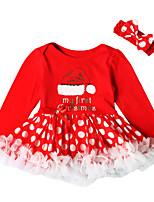 abordables -bébé Fille Imprimé Manches Longues Robe