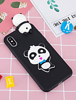 cheap -Case For Apple iPhone X / iPhone 8 Plus Pattern / DIY Back Cover Panda Soft TPU for iPhone X / iPhone 8 Plus / iPhone 8