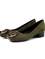 abordables -Femme Escarpins Daim Printemps Chaussures à Talons Talon Bottier Gris / Vert Véronèse / Bourgogne