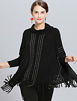 cheap -Long Sleeve Acrylic Wedding / Party / Evening Women's Wrap With Hollow-out / Tassel Capes