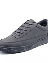 Недорогие -Муж. Комфортная обувь Полиуретан Осень На каждый день Кеды Нескользкий Белый / Серый / Красный