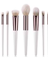 billiga -8pcs Makeupborstar Professionell Rougeborste / Ögonskuggsborste / Läppensel Nylon fiber Fullständig Täckning Trä / Bambu