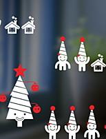 Недорогие -Оконная пленка и наклейки Украшение Рождество Праздник ПВХ Cool
