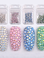 cheap -350 pcs Nail Jewelry Rhinestones High Transparency / Best Quality Romantic Series Ball nail art Manicure Pedicure Christmas / Party / Evening / Engagement Party Stylish / Aristocrat Lolita