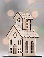 Недорогие -Рождественские украшения Новогодняя тематика деревянный Квадратный Оригинальные Рождественские украшения