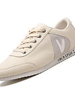 Недорогие -Муж. Комфортная обувь Сетка Осень На каждый день Кеды Дышащий Белый / Черный / Бежевый