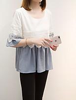 Недорогие -Жен. Пэчворк Блуза Классический Однотонный / Контрастных цветов