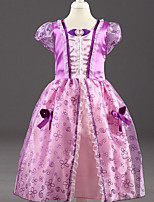 Недорогие -Дети / Дети (1-4 лет) Девочки Цветочный принт С короткими рукавами Платье