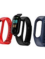 abordables -Bracelet à puce M3 pour Android iOS Bluetooth Sportif Imperméable Moniteur de Fréquence Cardiaque Mesure de la pression sanguine Ecran Tactile Podomètre Rappel d'Appel Moniteur d'Activité Moniteur de